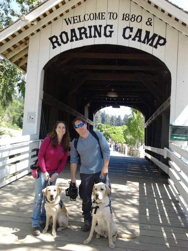 Amie and Matt at Roaring Camp Railroad